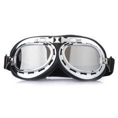Universal Chrome Lenses UV Motorcycle ATV Helmet Goggles