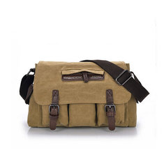 Mens Casual Canvas Messenger Bag Travel Shoulder