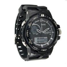 5ATM SKMEI Men's Rubber Band LED Digital Sports Waterproof Wrist Watch