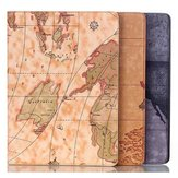 Map Design Folio PU Leather Case Cover For Samsung Tab S T800