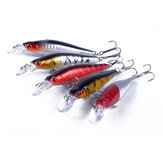 ZANLURE 5 Pcs Fishing Lures Lifelike Diving Bait Hooks 8cm
