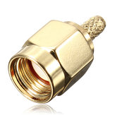 Brass RP-SMA Male Plug Center Window Crimp Cable RF Adapter Connector