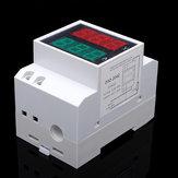 AC80-300VTrilhoDinAC LED Dupla Exibição Volt Medidor Amperímetro Tensão Ampere Calibre