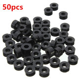 Suleve™ M3NW2 Flat Nylon Washer Black Round Spacer Waser OD 8mm for M3 Screws 50pcs