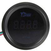 52 milímetros carro auto tacômetro digital azul calibre LED rpm metros