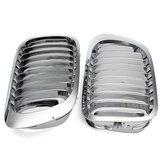 Parrillas parrilla de riñón frontales de plata para BMW E46 3 series de 2 puertas 99-06