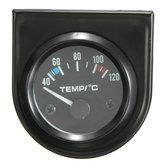 Ponteiro universal para carro de 2 polegadas e temperatura da água medidor de temperatura 40-120 ℃ branco LED
