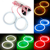 2 x 80mm 93 LED CCFL Scheinwerfer COB Angel Eyes Halo Ring Lampen