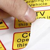 6pcs автомобиль такси стикер переводная картинка признаки видеонаблюдения работает в этом автомобиле