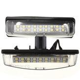 2PCS LEXUS用18 SMD LEDナンバープレートライト