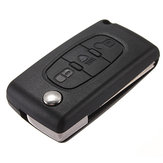 3 Button Flip Remote Key Fob Case Shell For Citroen C2 C3 C4 C5 C6