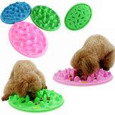 Собака кошка медленной еды фидер анти дроссель домашних животных миску корма блюдо щенка силиконовые глоток