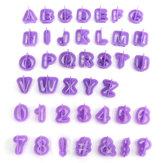 40pcs letra do alfabeto de plástico cortadores de biscoito biscoito bolo assando molde fondant