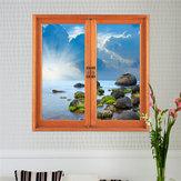 3d искусственный окно просмотра 3d наклейки для стен съемная морской пейзаж наклейки стены дома Декор подарок