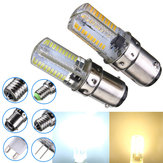 Ba15d dimmable 3w blanc / blanc chaud 3014smd LED ampoule silicone 220-240v