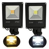 20W PIR Motion Sensor LED Flood Light IP65 Warm/Cold White Lighting