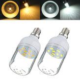 E12 3w bianco / bianco caldo 9 SMD 5730 LED luce 300lm punto lampadina del cereale 220v