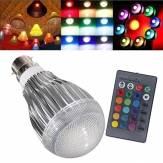 B22 9W RGB AC 85-265V LED Magia Bombilla Lámpara Con IR Control remoto