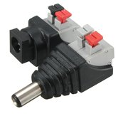LUSTREON DC Power Mann Kvinne 5.5 * 2.1mm Connector Adapter Plug Cable Presset for LED Strips 12V