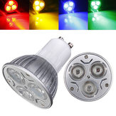 GU10 3W AC 220V 3 LEDs Red/Yellow/Blue/Green LED Spot Light Bulbs