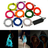 4M 10 kleuren 3V Flexibele Neon EL Wire Light Dance Party Decor Light