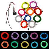 3m néon flexível el fio 10 cores 12v dança luz decoração do partido luz