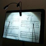 2 double bras 4 LED souple clip stand livre de musique sur la lampe lumière noire