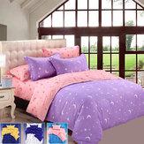 Honana 4pcs बिस्तर तकिया सूट पॉलिएस्टर फाइबर स्टार चंद्रमा प्रतिक्रियाशील मुद्रित बिस्तर सेट