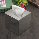 Cube Stainless Steel Toilet Paper Box Tissue Container Case Paper Holder
