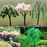 Mini Landscape Tree Cherry Willow Tree Home Garden Decor