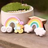 Micro paisaje decoraciones de mini arco iris jardín jardinería