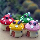 Mini-résine champignons maison micro paysage décorations bricolage