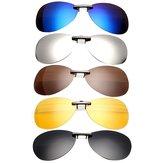 Clip Polarizado en las Gafas de Sol Lente de Visión Nocturna de Vidrio de Conducción de Gafas de Sol