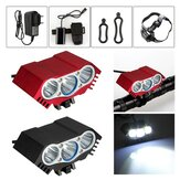 3 × T6 LED Headlight Front Bike Bicycle HeadLamp Head ضوء