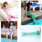 Girl Little Mermaid Tail Bikini Set Swimmable kostium kąpielowy Princess Costume