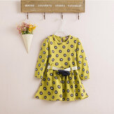 Baby Children Girls Princess Spots Dress Flower Belt Skirt