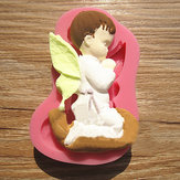 Gebraden Boy Angel Silicone Fondant Cake Mold Zeep Chocolade Mould