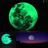 Naklejka ścienna 30cm Duża Księżycowa Wymienna Glow In The Dark Sticker