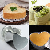 Aluminum Alloy Love Heart Shaped Cake Pan Biscuit Baking Mold 3 Sizes