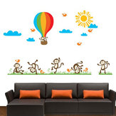 Maymun Balon Duvar Sticker Cartoon Wall Stickers Ev Dekorasyonu