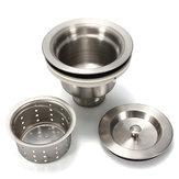 Stainless Steel Kitchen Water Sink Strainer Plug Drain Basket