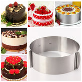6 to12 Inch Stainless Steel Adjustable Mousse Cake Ring Baking Mold