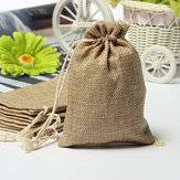 Faux Burlap Hessian Mini Torby Rustic Wedding Favor Gift Bag