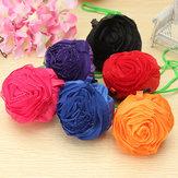 Rose Flowers Reutilizable Plegable Shopping Bolsa Grocery Bolsa Tote