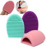 Trucco silicone spazzola cosmetica pulizia guanto pulito fondazione