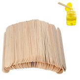 100PCS Wooden Wax Stick Manicure Tongue Depressor Sticks