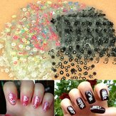 50 ark 3D blandade stilar Blommedesign Tips Dekal Nail Art Stickers