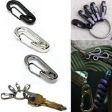 Stainless Steel Split Keychain Carabiners Climbing Key Ring Fishing Tool