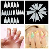 500Pcs Shape Natural Color White Acrylic False Nail Tips Full Nails
