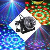 5W RGB Crystal Magic Ball Effect Stage Light Kontrol Suara Party Disco Club